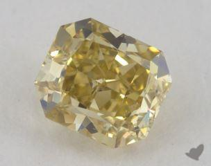radiant0.71 Carat fancy deep yellowSI2