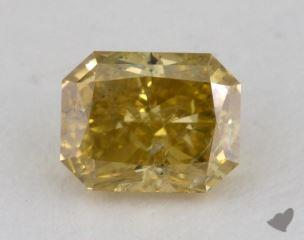 radiant1.03 Carat fancy deep brownish yellow