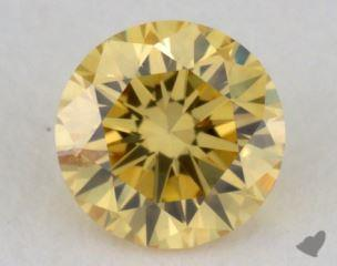 round0.24 Carat fancy vivid yellowSI2