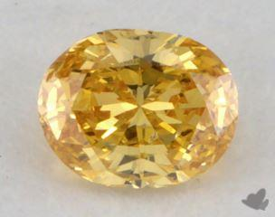oval0.21 Carat fancy vivid yellow orangeSI2