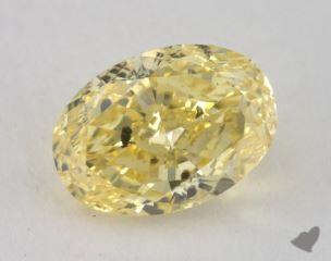 oval1.59 Carat fancy intense yellowSI2