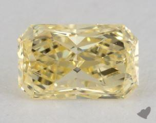 radiant0.77 Carat fancy yellowVS2