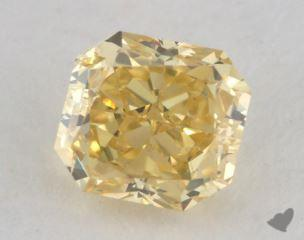 radiant0.82 Carat fancy intense yellowVS1