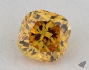 cushion0.26 Carat fancy vivid orangy yellowVS2