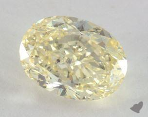 oval3.75 Carat fancy light yellowSI1