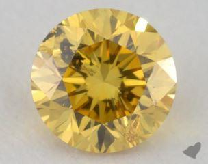round0.30 Carat fancy vivid yellowI1