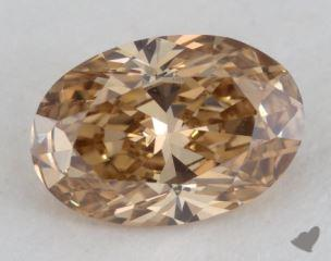 oval0.74 Carat fancy deep brownish orangy yellowVVS1