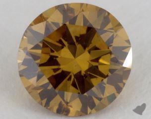 round0.78 Carat fancy deep brownish greenish yellowSI2