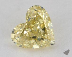 heart1.07 Carat fancy yellowSI1