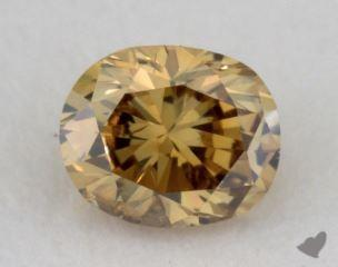 oval0.25 Carat fancy deep brownish greenish yellowI1