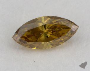marquise0.32 Carat fancy deep brownish yellowI1