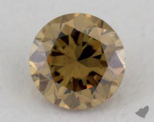 round0.18 Carat fancy deep brownish greenish yellowSI2