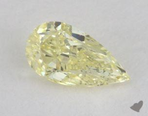 pear0.55 Carat fancy light yellowSI1