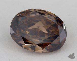 oval2.11 Carat fancy dark orangy brownVS1