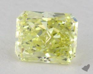 radiant0.58 Carat fancy yellowVS2