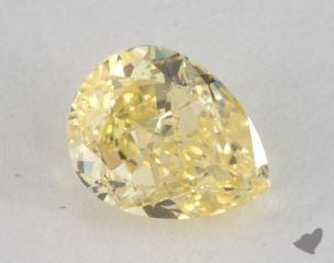 pear0.80 Carat fancy intense yellowVVS2