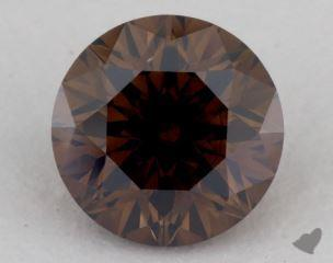 round0.95 Carat fancy dark orangy brownVS2