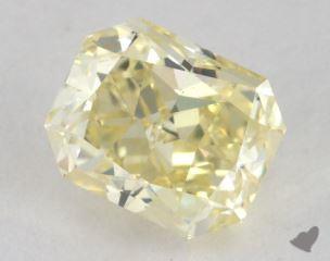 radiant1.32 Carat fancy light yellowVS2