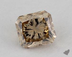 radiant1.01 Carat fancy yellowish brownVS1