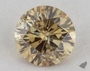 round0.39 Carat fancy deep brownish greenish yellowI1