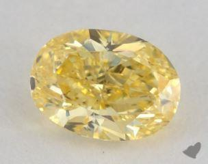 oval0.62 Carat fancy vivid yellowSI1