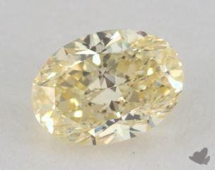 oval0.65 Carat fancy yellowVS1
