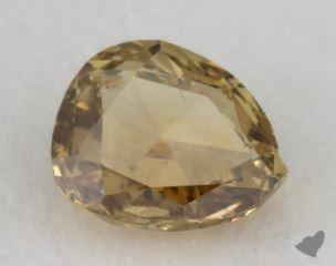 pear0.26 Carat fancy deep brownish greenish yellowI1