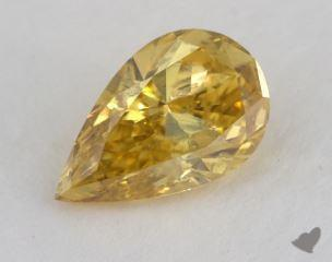 pear1.10 Carat fancy deep yellowI2