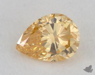 pear0.67 Carat fancy intense orange yellowSI2