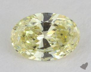 oval0.52 Carat fancy light yellowVS2