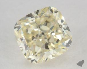 cushion0.72 Carat light yellowVS1