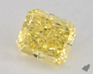 radiant1.41 Carat fancy vivid yellowVS2