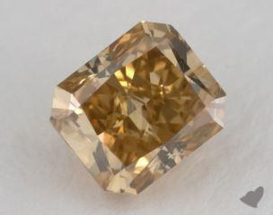 radiant1.18 Carat fancy deep brownish orangy yellowVS2