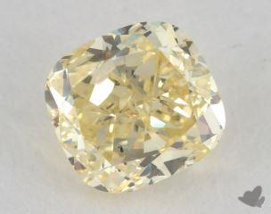 cushion0.72 Carat fancy yellowSI1