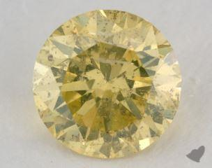 round2.04 Carat fancy intense greenish yellowI2