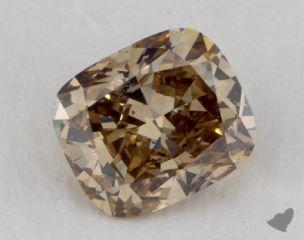 cushion1.68 Carat fancy brownish yellowSI2