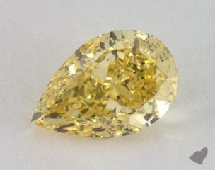 pear2.48 Carat fancy intense yellowSI2