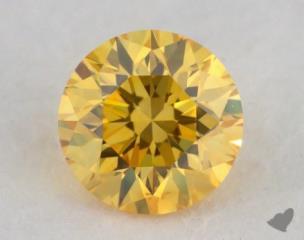 round0.18 Carat fancy vivid yellow