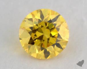 round0.17 Carat fancy vivid yellow