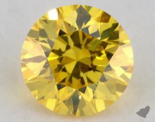round0.23 Carat fancy vivid yellow