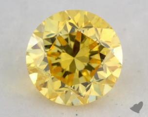 round0.28 Carat fancy vivid yellow