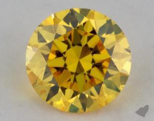 round0.24 Carat fancy vivid yellow