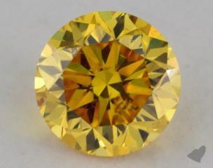 round0.30 Carat fancy vivid yellow