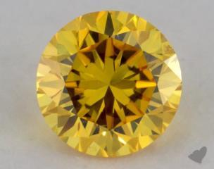 round0.38 Carat fancy vivid yellow