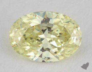 oval0.55 Carat fancy yellowVS2