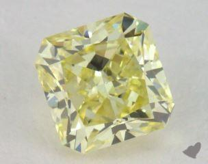 radiant0.52 Carat fancy yellowSI1