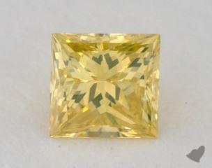 princess0.34 Carat fancy vivid greenish yellow