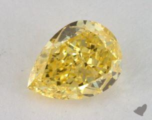 pear0.80 Carat fancy vivid yellowVVS1