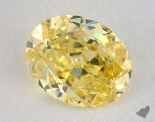 oval1.30 Carat fancy vivid yellowVVS2