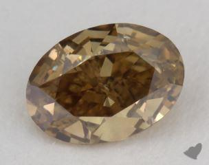 oval1.07 Carat fancy dark brownish greenish yellowI1